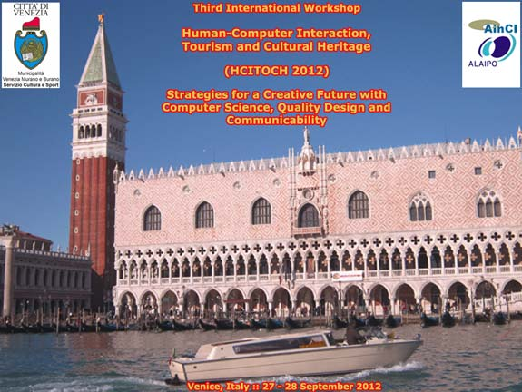 International Workshop HCITOCH 2012 :: Venice, Italy :: 27 - 28 September, 2012