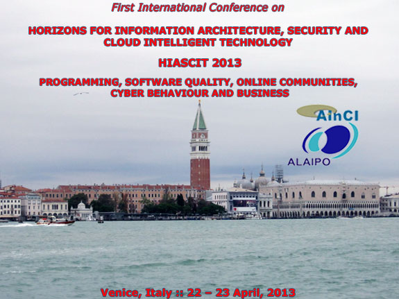 International Conference on HIASCIT 2013 :: Venice - Italy
