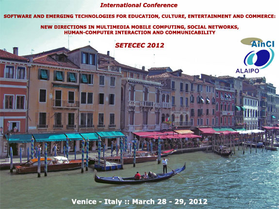 International Conference SETECEC 2012 :: Venice - Italy