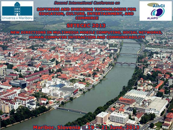 Second International Conference on SETECEC 2013 :: Maribor -  Slovenia